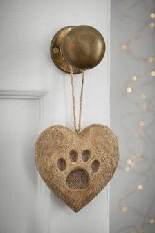 Paw Print Heart Hanging Decoration