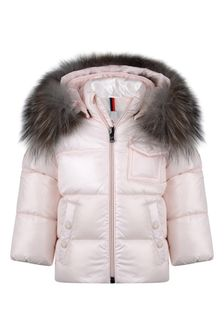 Baby Girls Light Pink Down Padded K2 Jacket