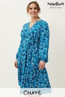 Studio 8 Blue Sophia Floral Dress