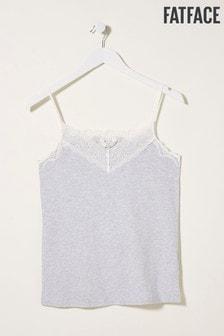 FatFace Grey V-Neck Lace Vest