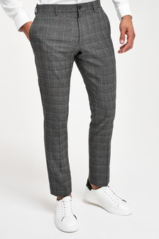 Check Slim Fit Trousers