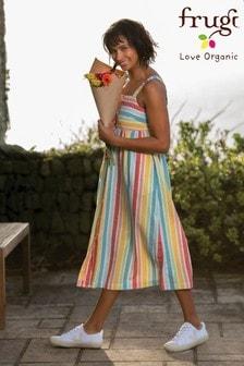 Frugi Organic Maternity/Breastfeeding Dress - Stripe
