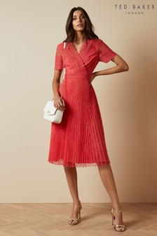 Ted Baker Sonyyia Faux Wrap Lace Midi Dress