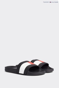 Tommy Hilfiger Blue Essential Flag Pool Sliders