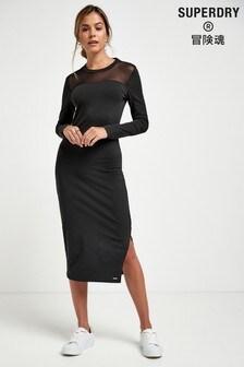 Superdry Black Mesh Dress