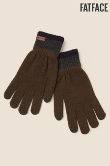 FatFace Green Touchscreen Gloves