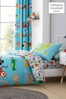 Animal Adventure Easy Care Duvet Cover and Pillowcase Set by Catherine Lansfield