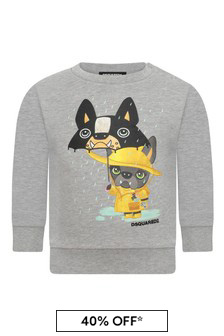 Baby Girls Grey Cotton Sweater