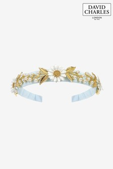 David Charles Blue Daisies Hairband