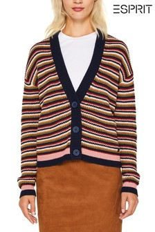 Esprit Navy Stripe Cardigan