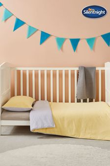 Silentnight Yellow Smudge Printed Duvet Cover and Pillowcase Set