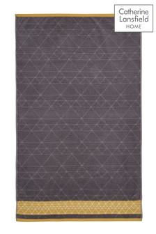 Linear Diamond Towel by Catherine Lansfield