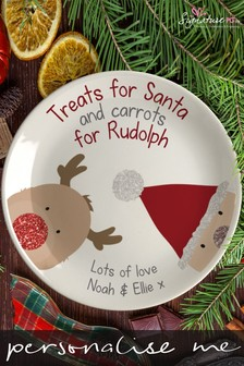 Personalised Christmas Eve Treats Plate by Signature PG