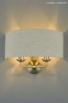 Laura Ashley Sorrento 2 Light Wall Light with Natural Shade