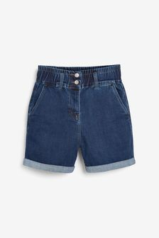 Elasticated Waist Denim Shorts