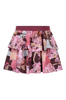Girls Winter Bouquet Organic Cotton Skirt