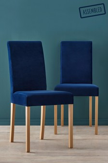 Set Of 2 Rae Dining Chairs With Natural Legs