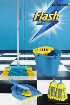 Flash Floor Clean Kit With Mighty Mop And Flash Mop Bucket by Wham