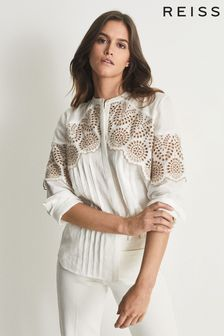 Reiss Riley Relaxed Fit Embroidered Shirt