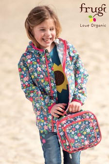 Frugi Recycled Floral Rabbit Print Pack Away Jacket