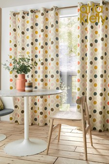 Orla Kiely Spot Flower Blackout Eyelet Curtains