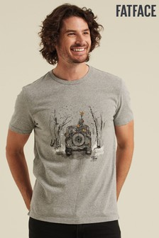 FatFace Grey Land Rover Xmas Graphic T-Shirt