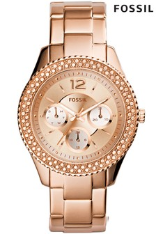 Fossil™ Stella Rose Gold Tone Watch