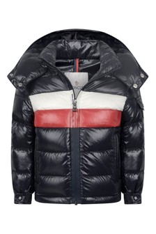 Girls Navy Down Padded Dell Jacket