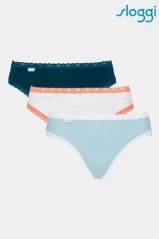 Sloggi® Blue 24/7 Weekend Tai Style Briefs Three Pack