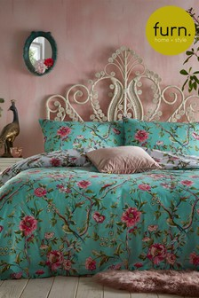 Vintage Chinoiserie Duvet Cover and Pillowcase Set by Furn