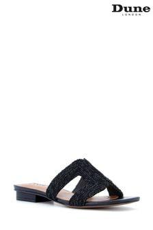 Dune London Black Loupe Smart Slider Sandals
