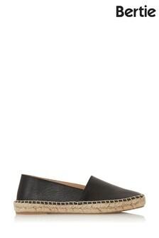 Bertie Greet Black Leather Chiselled Toe Espadrilles