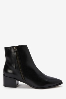 Point Zip Chelsea Ankle Boots