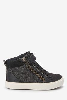 Elastic Lace High Top Boots (Younger)