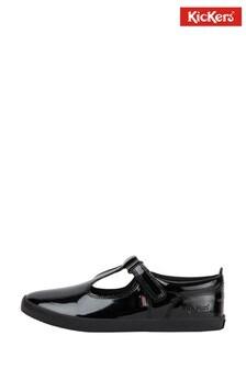 Kickers Junior Kariko T-Bar Velcro Patent Leather Shoes