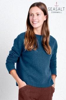 סוודר של Seasalt דגם Day Trip Galley בכחול