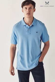 Crew Clothing Company Blue Classic Pique Polo