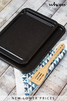 Set of 2 Enamel Roasting And Baking Trays by Wham