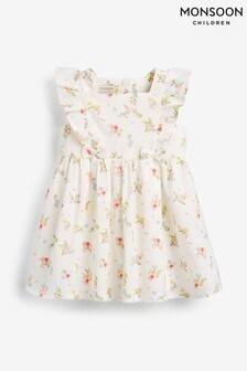 Monsoon Cream S.E.W. Baby Kaia Dress