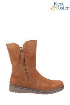 Fleet & Foster Freya Brown Ankle Boots