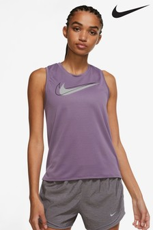 Nike Womens Purple Swoosh Running Tank