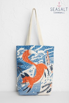 Seasalt Blue Canvas Shopper Bag