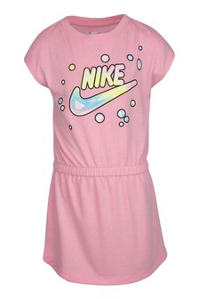 Nike Little Kids Pink Bubble Logo Dress