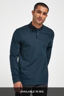 Long Sleeve Pique Polo