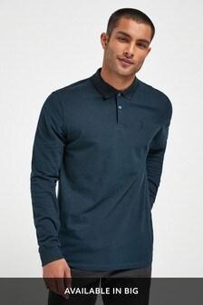 Long Sleeve Pique Poloshirt