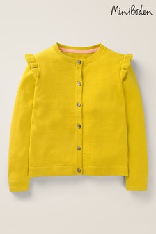 Mini Boden Yellow Everyday Cardigan