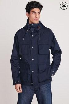 Shower Resistant Hooded 4 Pocket Jacket