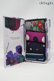 Thought Purple Mariot Sock Box Four Pack