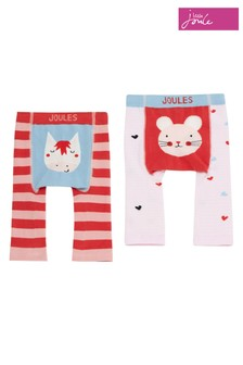 Joules Red Lively Mouse And Horse Character Leggings