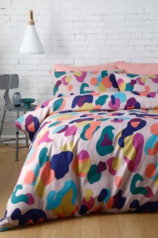 Multi Animal Print Duvet Cover And Pillowcase Set